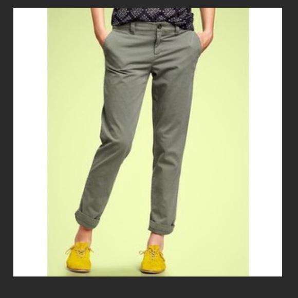 purchase original highly praised best Gap Army Green Broken In Straight Khaki Pants 00